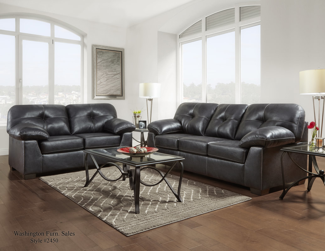Incroyable 2450 Nevada Black Sofa And Loveseat