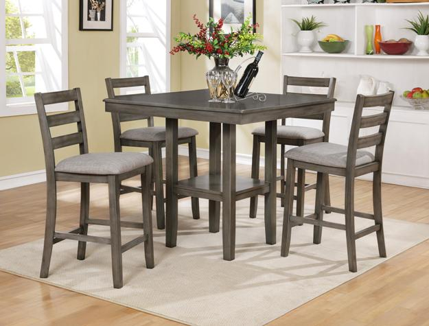 2630 Gray TAHOE 5 Pc Set COUNTER Height