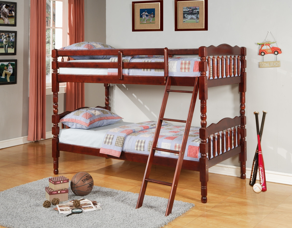 8132 Bunk Bed Cherry Twin/Twin