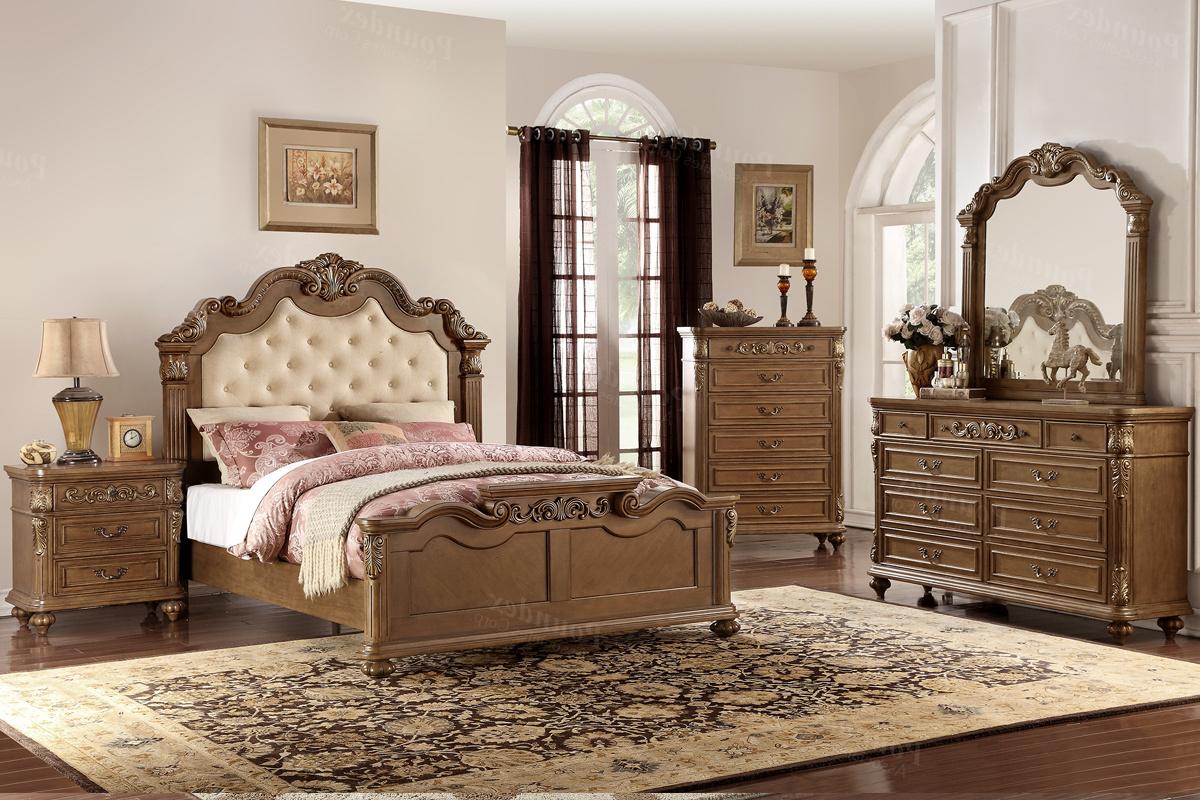 F9388 QUEEN Bedroom Set 5pc MW   Smartway Furniture – Houston, Texas