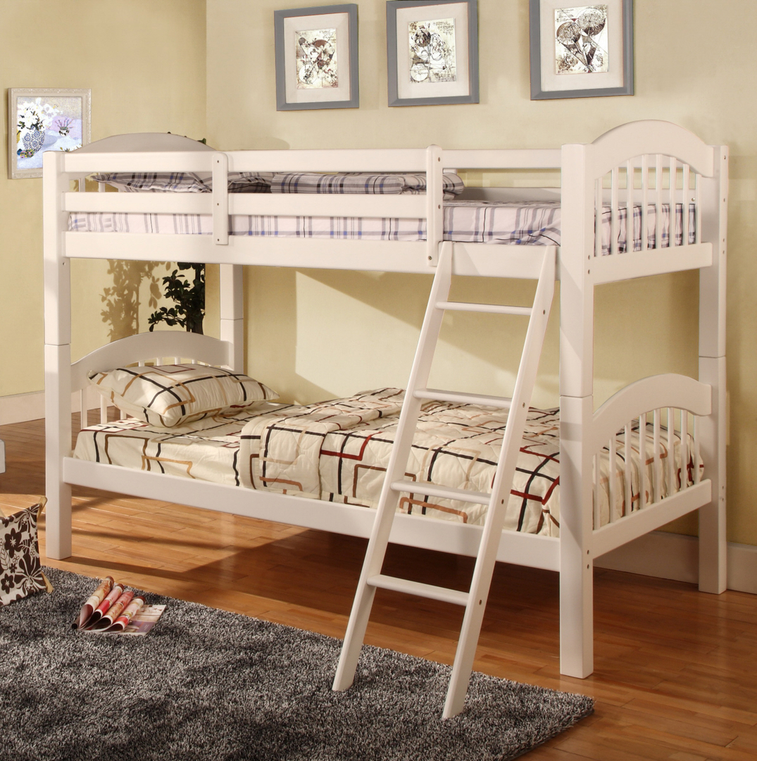 4525 White Bunk Bed Twin/Twin