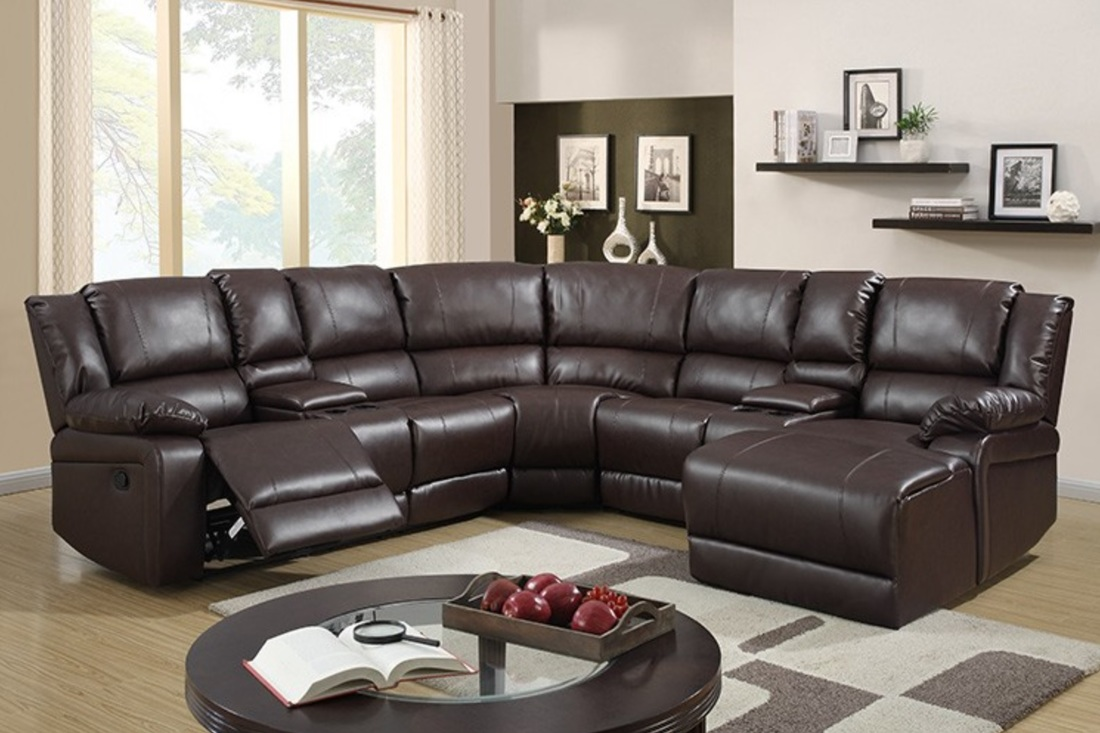 Sorrento Sectional - Brown Recliners