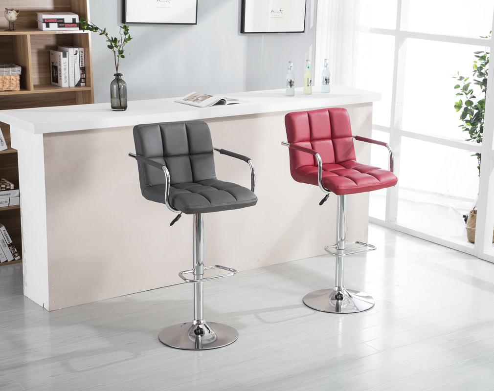 HHC2494 Red - 2 Set Barstools