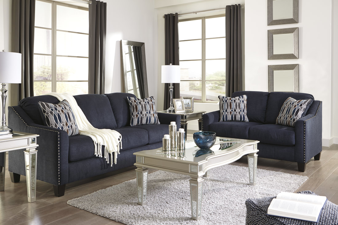 Ashley 802 Sofa and Loveseat