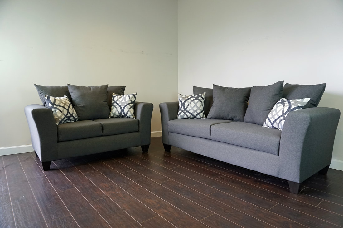 100-GREY Sofa and Loveseat