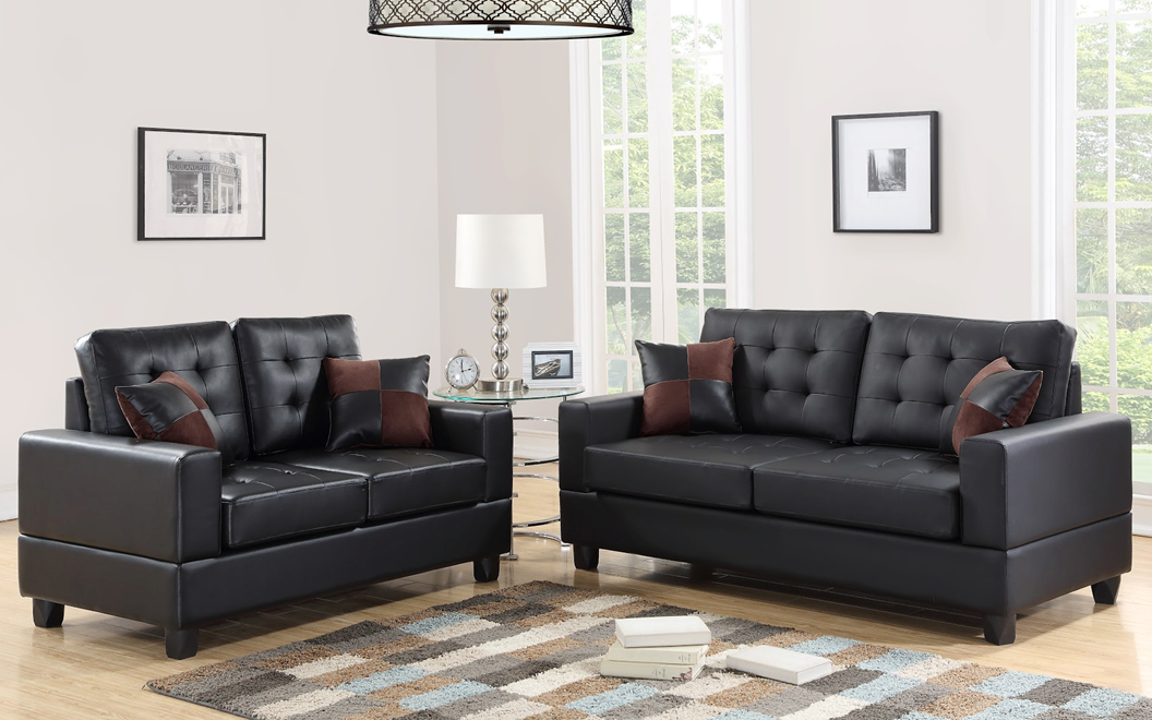 HH7855 2pc: Sofa and Loveseat Set
